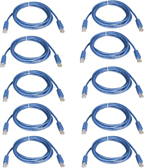 14 Foot Pick Length /& Color 10-Pack BattleBorn Cat5e RJ45 Ethernet Network Cable Cord , Black
