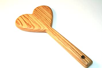 Amazoncom Bdsm Heart Spanking Paddle In Exotic Zebrawood Fetish