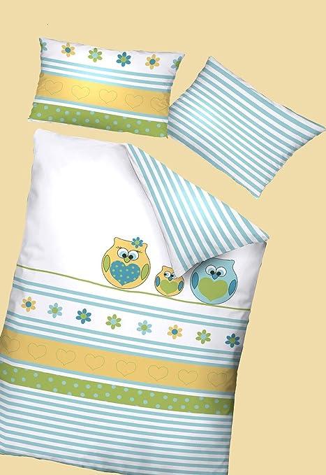 Dormisette Kinderbettw/äsche 100x135 1B Ware Sterne Eule Eulen Baumwolle rosa m.RV NEU Wendemotiv