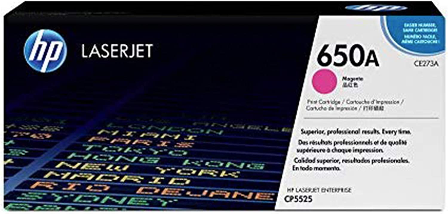 HP 650A | CE273A | Toner Cartridge | Magenta, One Size