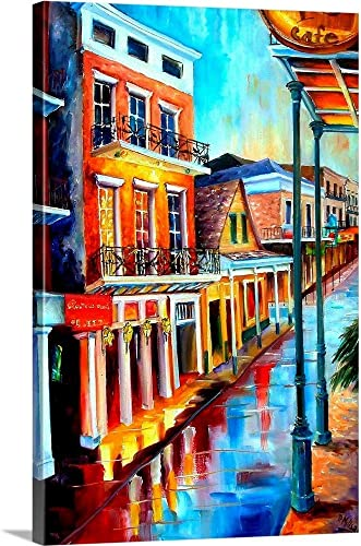 Rain Up on Bourbon Street Canvas Wall Art Print