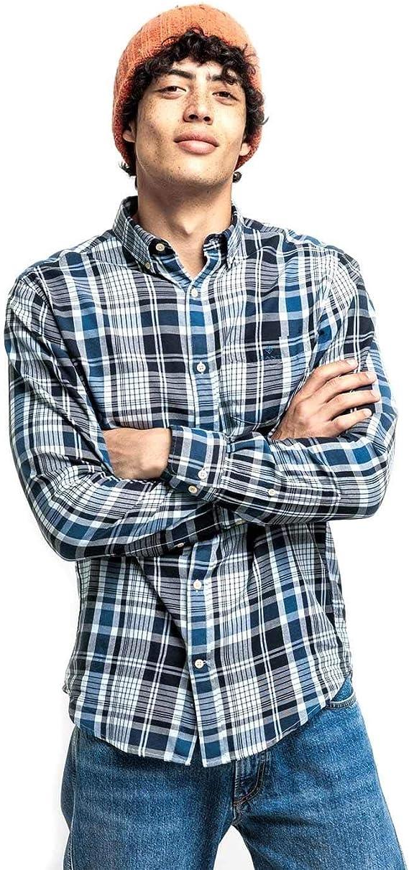 GANT Camisa Cuadros Escoceses Franela Azules XL: Amazon.es: Ropa y accesorios