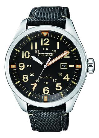 Citizen Reloj Analógico para Hombre de Cuarzo con Correa en Nailon AW5000-24E: Amazon.es: Relojes