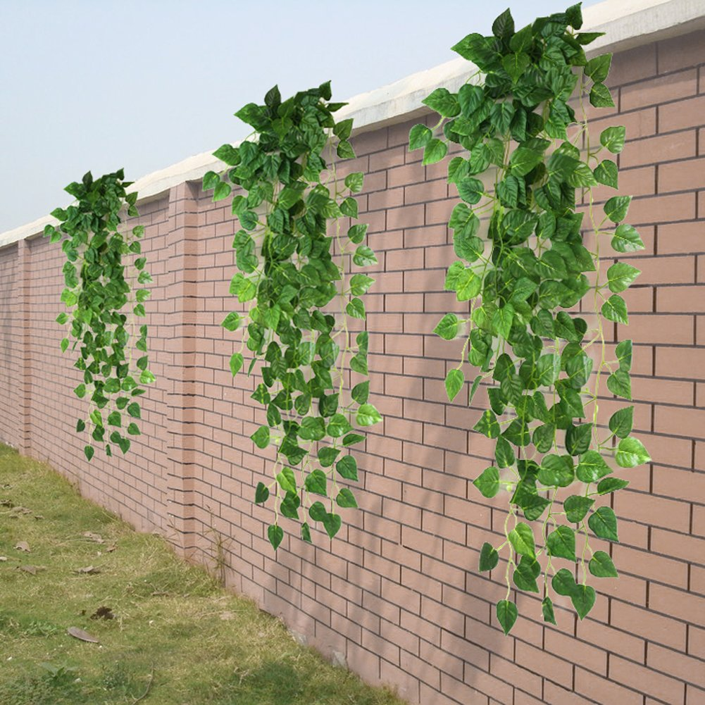 Amazon.com: Atificial Fake Hanging Vine Plant Leaves Garland Home ...