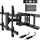 """Amazon Price History for:TV Wall Mount Full Motion Fits 16"""", 18"""", 24"""" Wood Studs, Articulating Swivel TV Mount for Most 37-70 Inch LED, LCD, OLED, Flat Screen, Plasma TVs up to 132lbs, VESA 600x400mm by PERLESMITH"""
