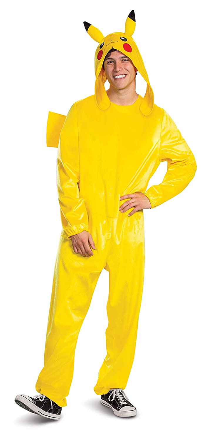 Disguise Unisex Pikachu Adult Deluxe Costume, Yellow, S/M ...