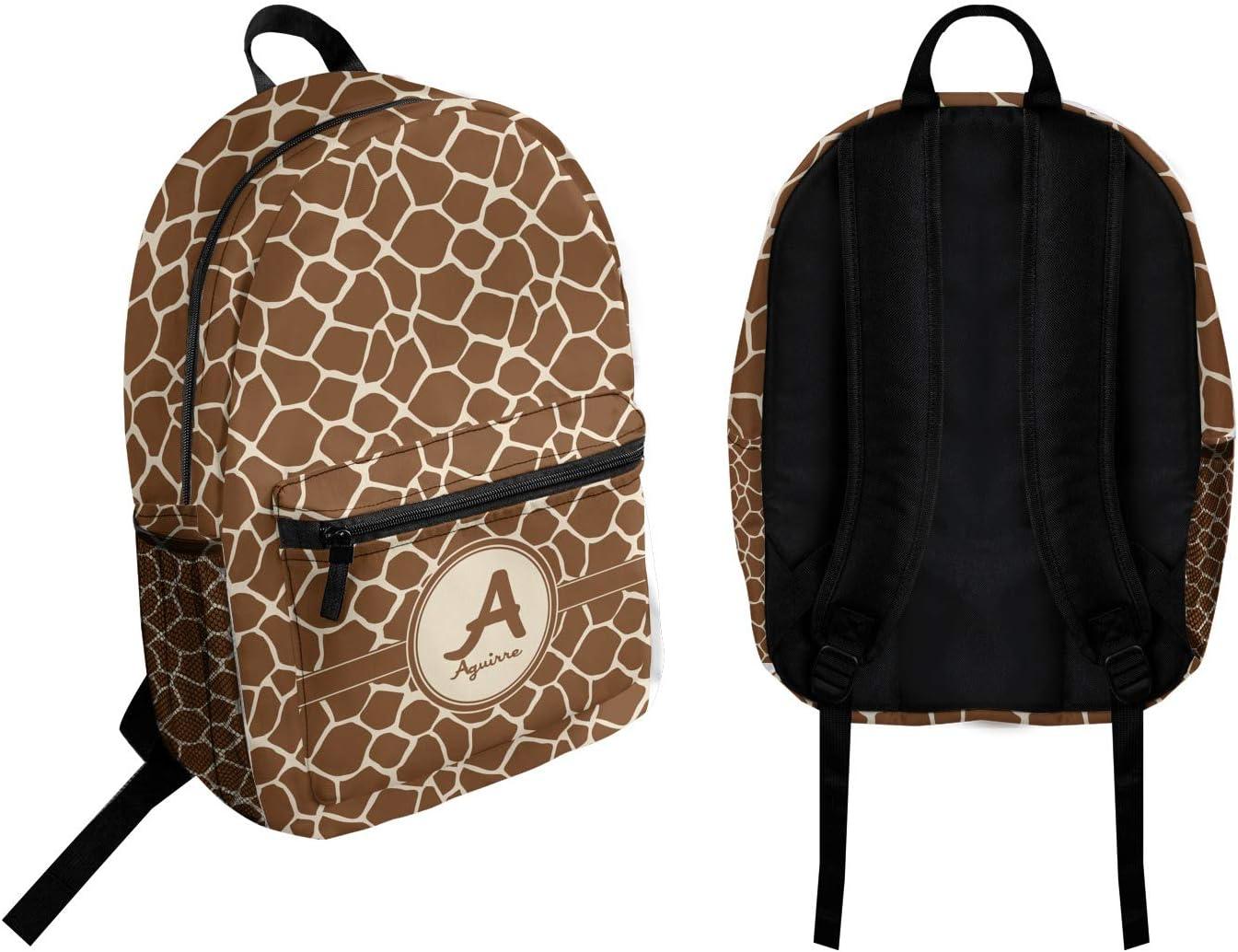 Personalized Giraffe Print Student Backpack