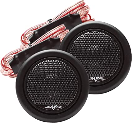 2 Soft Dome Tweeters.Car Audio High Tweeters.Surface Flush Mount.PAIR.4ohm NEW