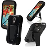 For SamsungGalaxy Light T399 Cover Case (T-Stand Hybrid Black / Black)