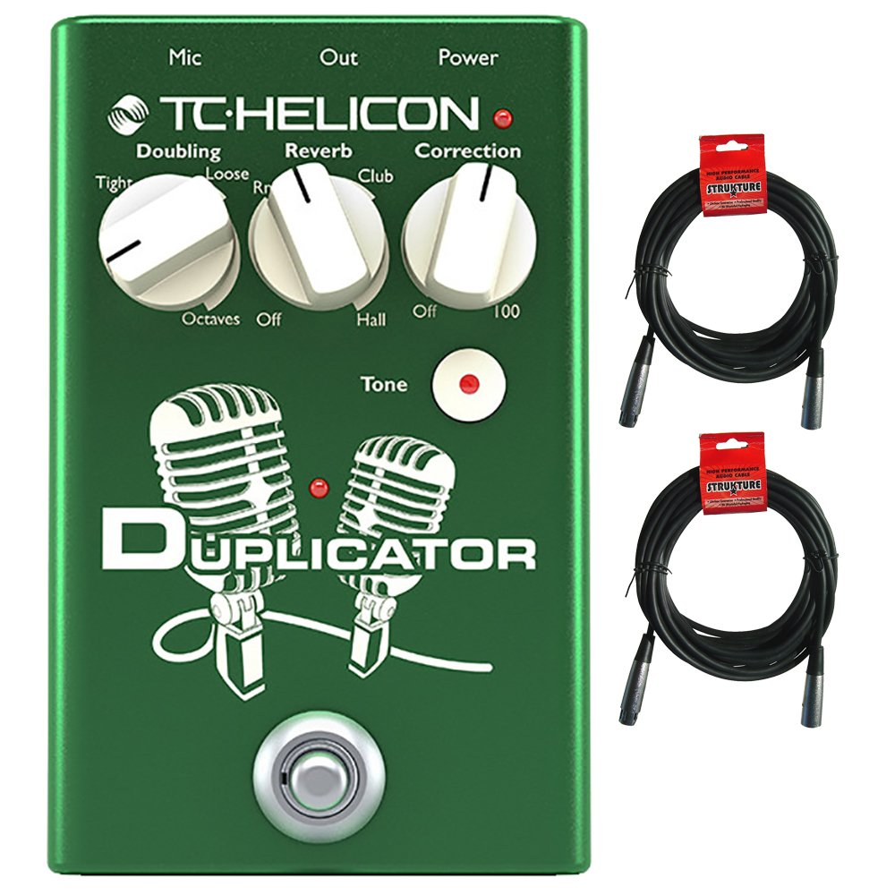 TC Helicon Duplicator Vocal Effects Pedal with (2) 20' XLR Cables
