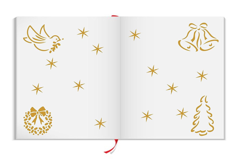 Navidad decoración Stencil reutilizable plantillas para mejor pintura – mejor para calidad álbumes de recortes Ideas de Navidad – uso en paredes, suelos, tejidos, cristal, madera, carteles, y más... M 07a5c6
