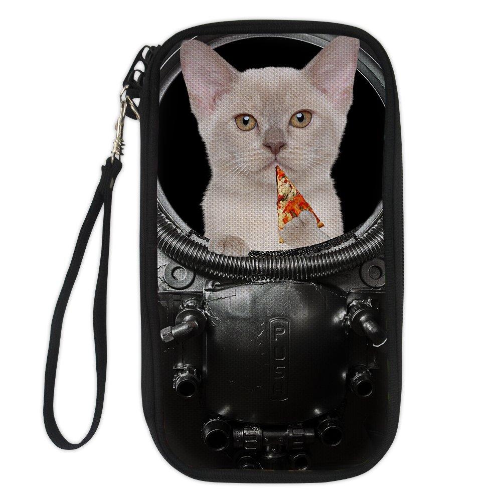 Cute Dog/&Cat Printted Passport Card Case Cover Boys Girls Zipper Passport Holder