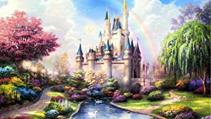 Jigsaw Puzzle 1000 Pieces for Adults Kids - Home Decoration Fantasy Castle Puzzle Frame Children Floor Jigsaw Puzzle(29.52 x 19.68 Inch)