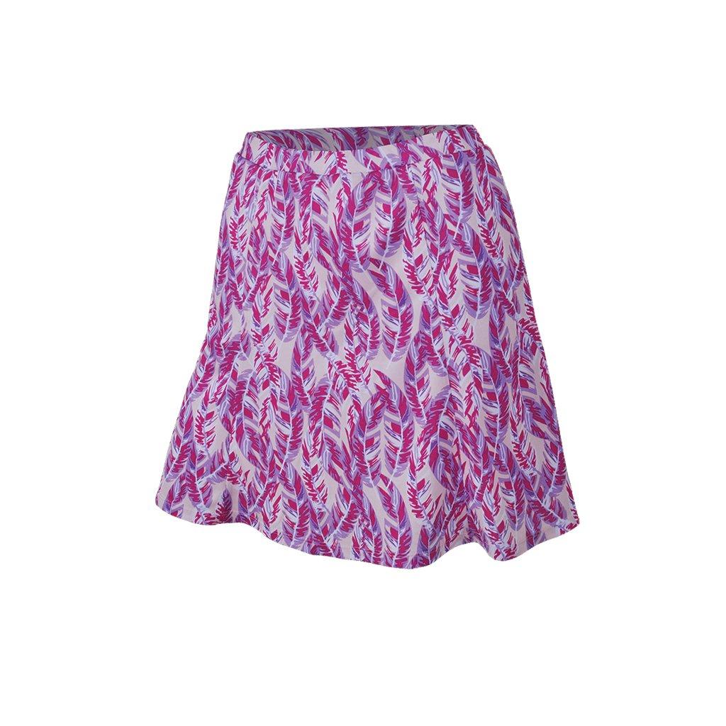 Monterey Club Ladies Dry Swing Skort #2928 (Pastel Lilac/Very Berry, X-Large)