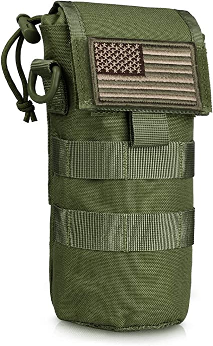 Tactical Military Water Bottle Waist Bag Outdoor Sports Zipper Kettle Holder Hot