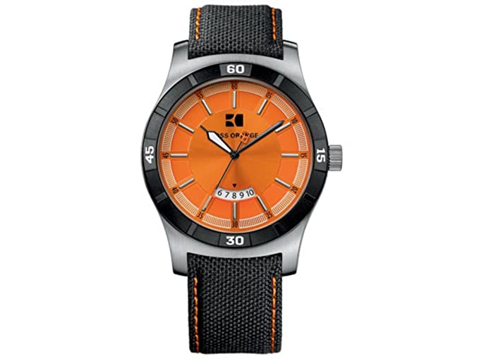 9fb2fc81093c Hugo Boss Orange 1512531 - Reloj analógico de caballero de cuarzo con  correa de varios materiales negra - sumergible a 30 metros  Amazon.es   Relojes