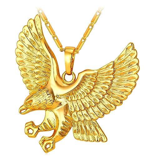 U7 brave man hawk necklace 18k gold plated eagle pendant necklaces u7 brave man hawk necklace 18k gold plated eagle pendant necklaces aloadofball Gallery