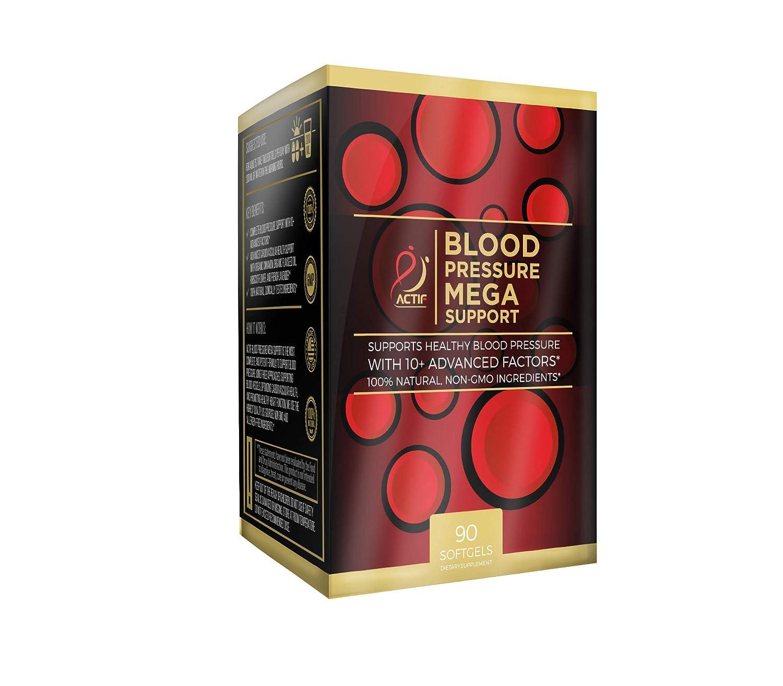 Actif Blood Pressure Mega Support with 10 Advanced Factors, 120 count