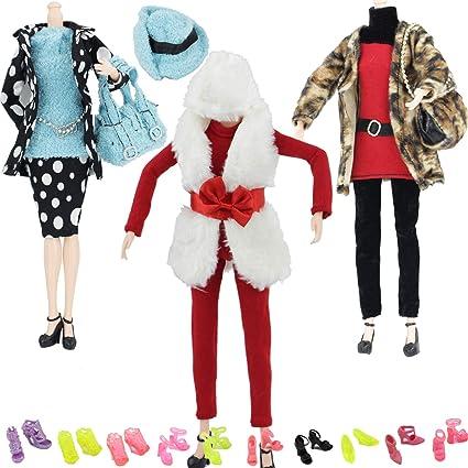 53cfc1738237 Amazon.com  MIBBQ 13 Doll Christmas Clothes and Shoes Set 3pcs ...
