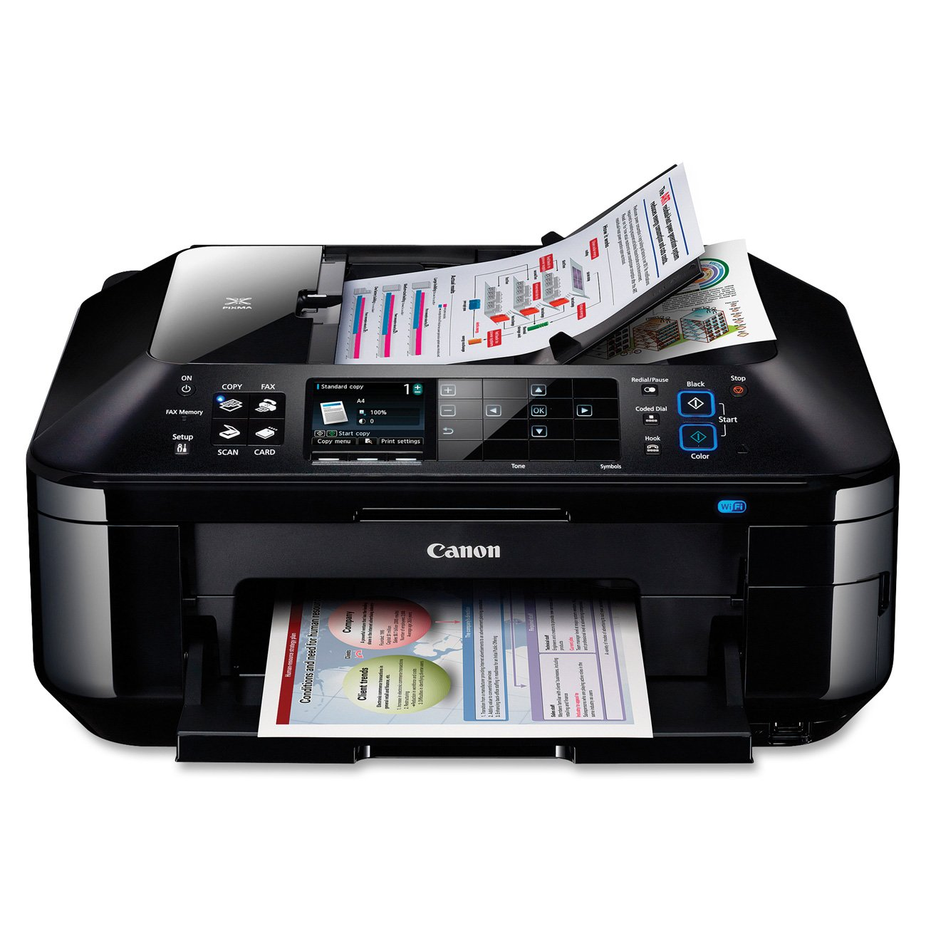 Amazon.com: Canon Pixma MX882 Wireless Office All-in-One Inkjet Printer  (4894B002): Office Products