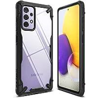 Ringke Fusion-X Compatible con Funda Galaxy A72, Carcasa Protección Resistente Impactos TPU + PC Case - Black