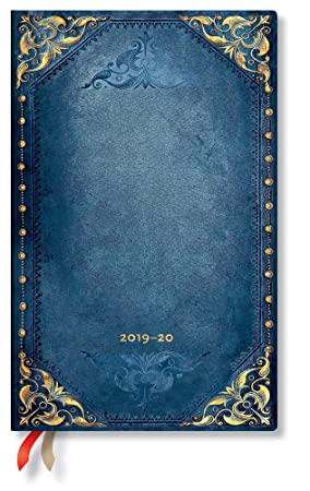 Paperblanks - Planificador y calendario de 18 meses con tapa flexible de lunares de julio de 2019 a diciembre de 2020, semana en vertical (210 x 135 ...