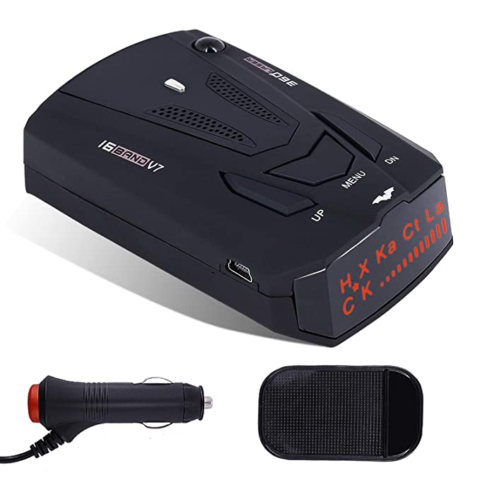 Radar Detector V7, City/Highway Mode Car Speed Laser Detector, with LED Display