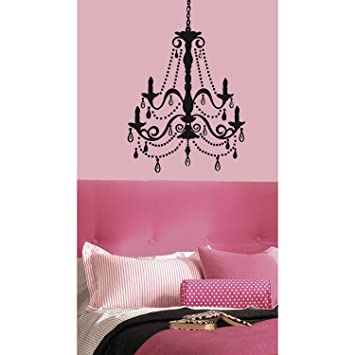Captivating RoomMates RMK1805GM Chandelier With Gems Peel And Stick Giant Wall Decal
