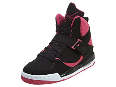 Jordan Kids Flight 45 GG Black Vivid Pink White Size 8.5