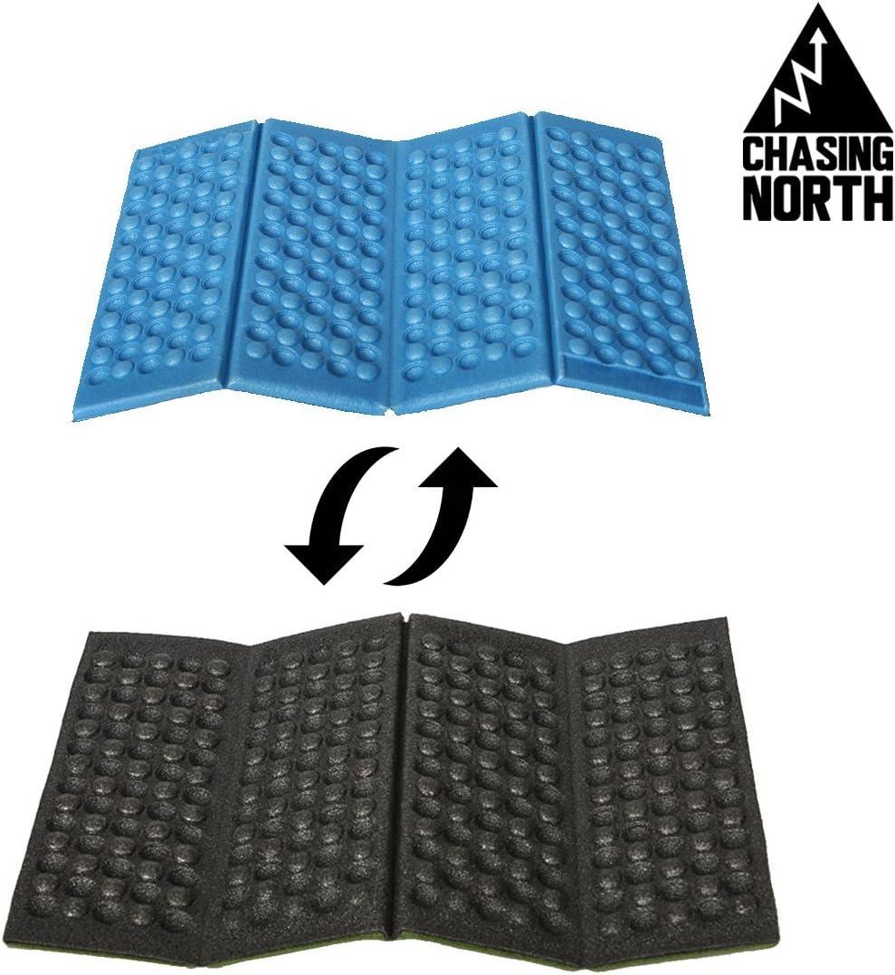 bricolaje Alfombrilla plegable de espuma Chasing North para camping al aire libre con dise/ño de color reversible senderismo eventos deportivos jardiner/ía compacta