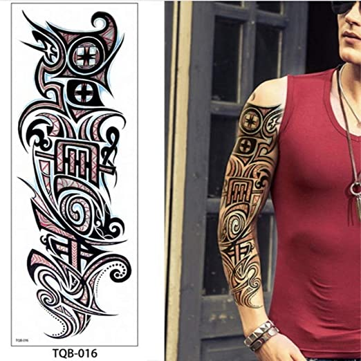 adgkitb 3pcs Temporary Tattoos For Men Robot Arm Sleeve Tattoo ...