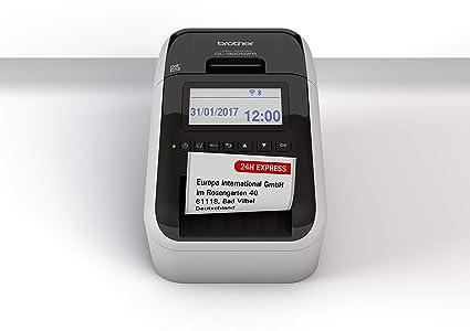 Brother QL820NWBZG1 - Impresoras de etiquetas compatible con USB y WLAN