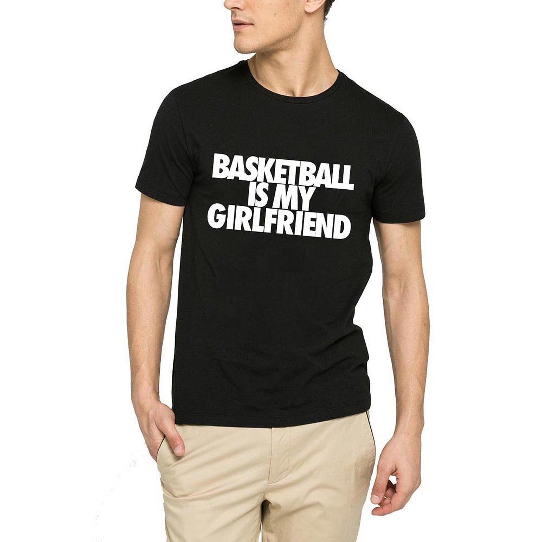 ddd8c0c6e Loo Show Mens Basketball is My Girlfriend Funny Black T-Shirt Tee-RT ...