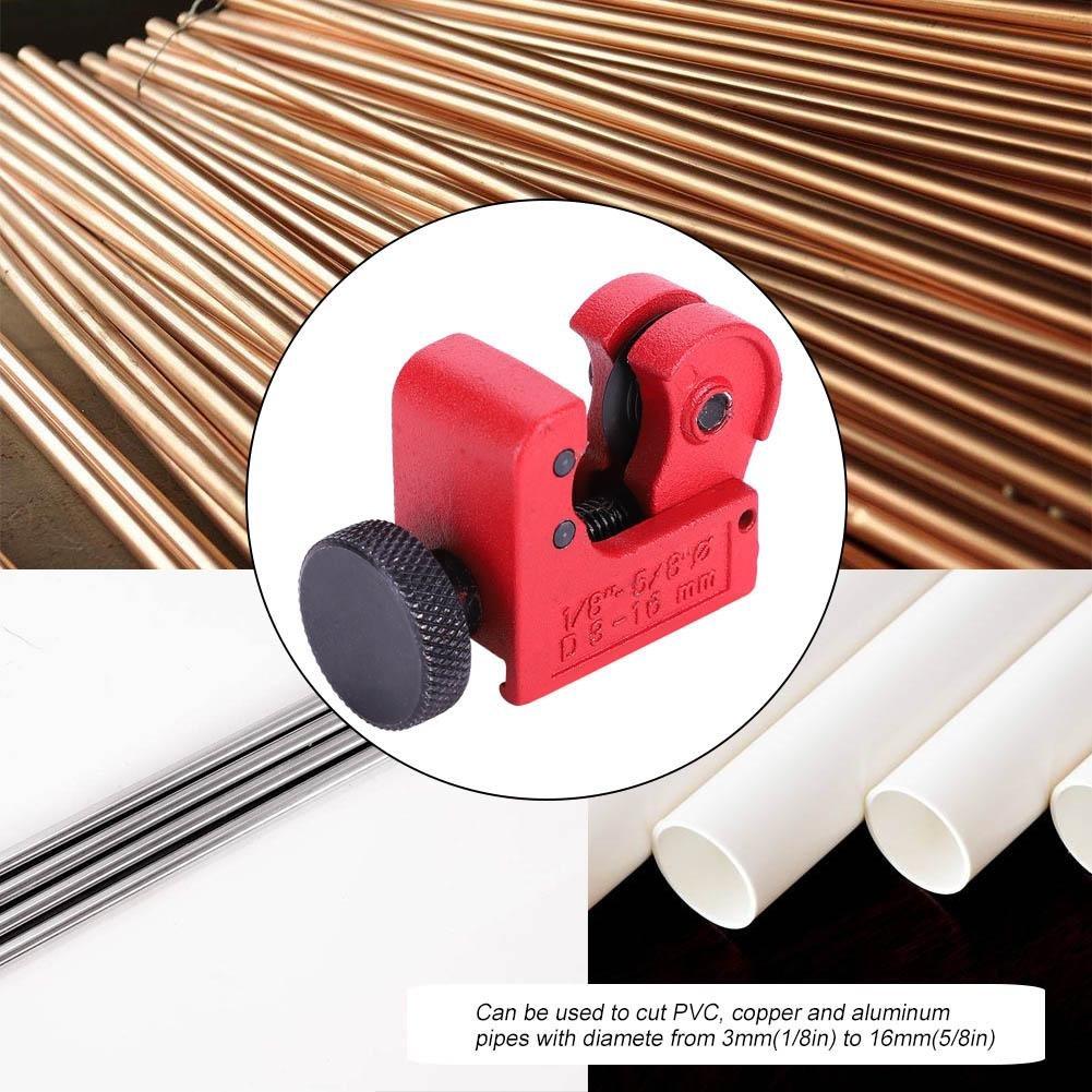 mini manguera de tubo ajustable Cortador de tubos Herramienta de corte para 3~16 mm Tubos de PVC y aluminio de cobre Cortador de tubos Mini cortador de tubos