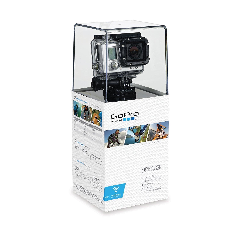 Amazon.com : GoPro HERO3: White Edition - (197'/ 60m Waterproof Housing) :  Go Pro : Camera & Photo