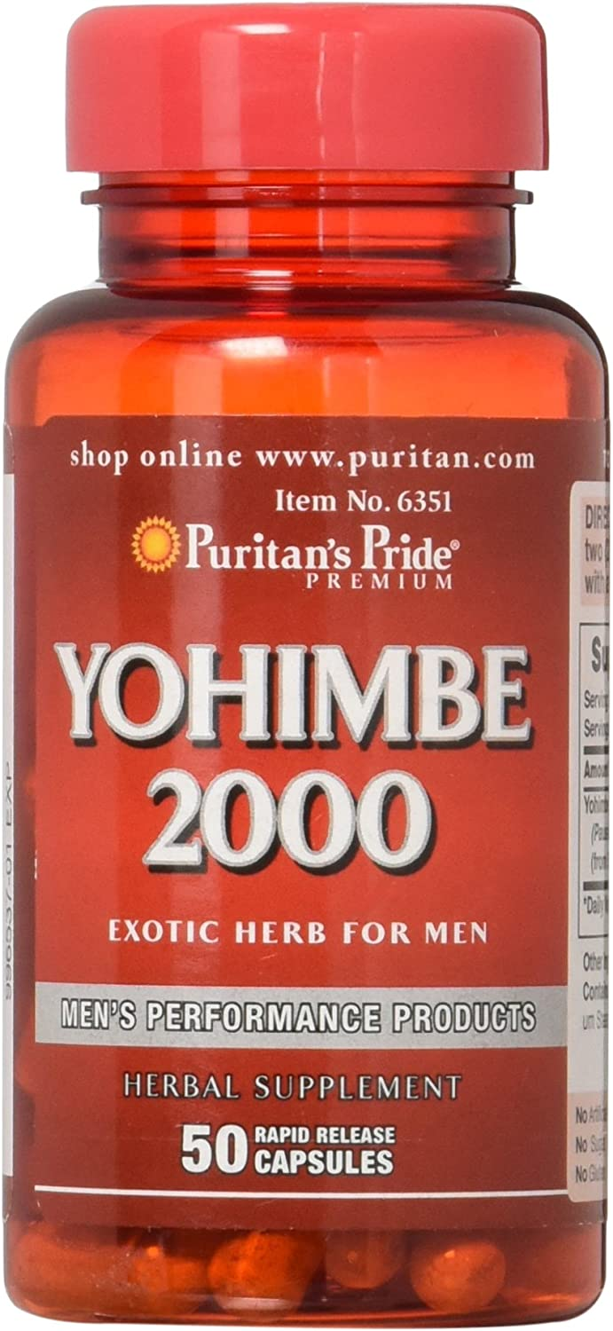 Puritans Pride Yohimbe 2000 Mg, 50 Count: Health & Personal Care