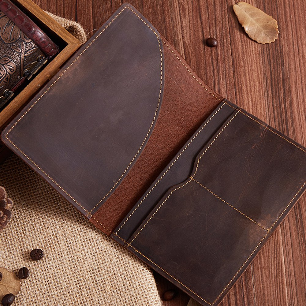 Genuine Leather Passport Holder Wallet Cover Case Travel Wallet by Boshiho