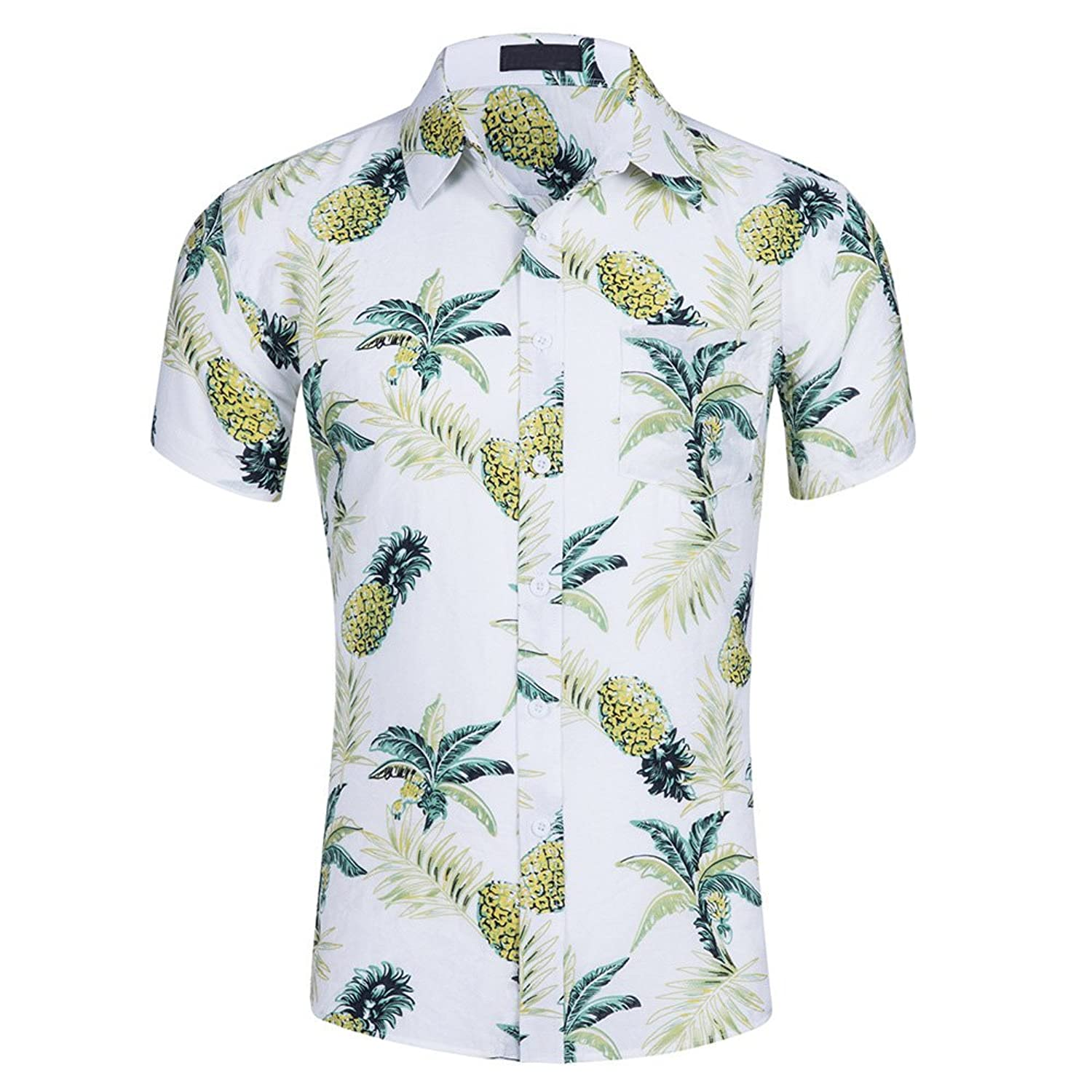 48f6bffa Special style:Pineapple Printed Aloha Hawaiian Shirt,SOFT,  Comfortable,Fashion,Good for your travel, Look Awesome In Colder Days,You  Just Wear it with a ...