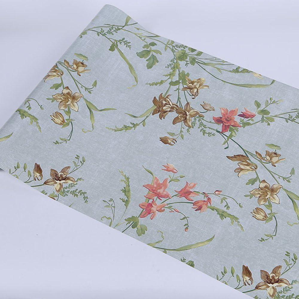 Yifely Rural Floal Vinyl Furniture Paper Pre-Pasted Shelf Liner Dresser Drawer Sticker 17.7 Inch by 9.8 Feet