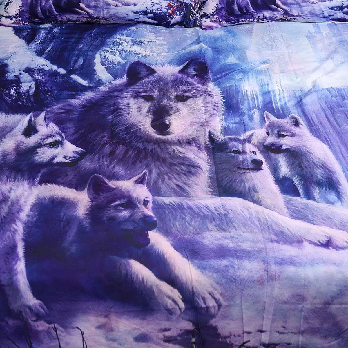Super Cute Dog Wolf Bild Kissen Kissenbezug Wildlife Print Kissenbezug