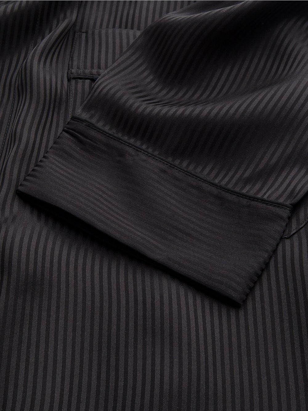 Derek Rose Sherlock Holmes Piped Silk Dressing Gown: Amazon.co.uk ...