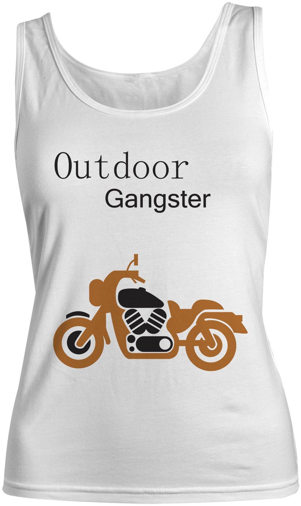 Outdoor Gangster Funny Motorcycle Biker Tank Top Sleeveless Shirt 4355