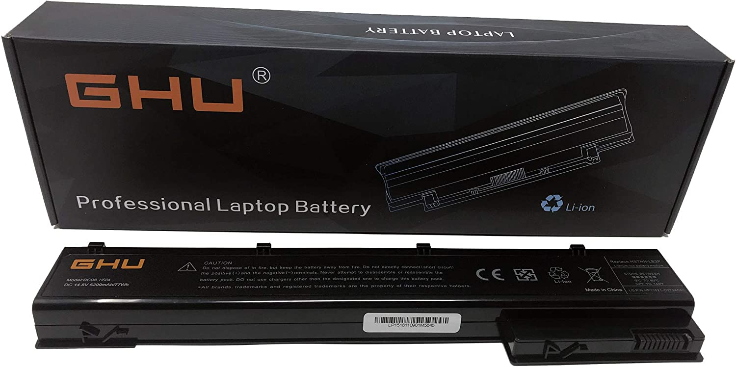 New GHU VH08 Notebook Battery Compatible with HP Elitebook 8560W 8570W 8760W 8770W Mobile Workstation 632427-001 632425-001 632113-141 632114-421 HSTNN-F10C HSTNN-I93C- 14.8V 12 Months Warranty