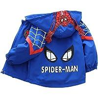 WEIR Chaqueta de Spiderman para niños Primavera y otoño para niños de una Sola Capa con Bolsillo con Cremallera Sudadera…