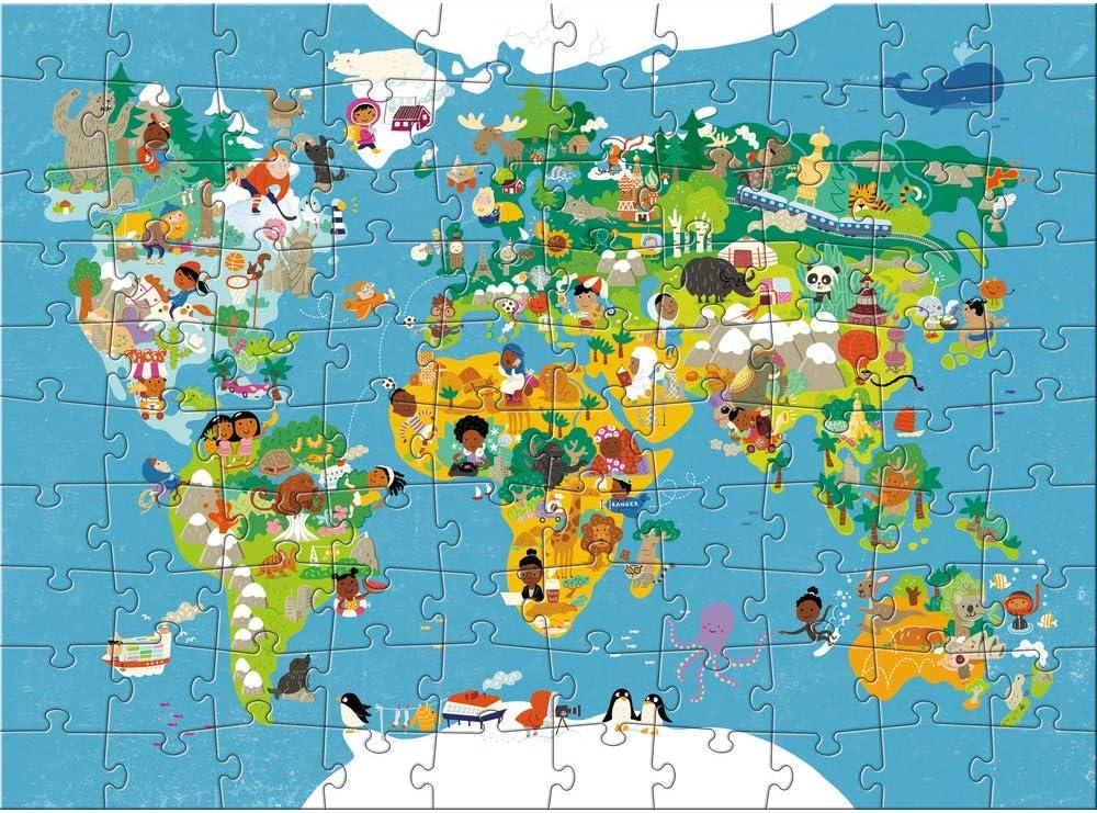 HABA Puzzle de Mapa del Mundo (Puede no Estar en español), 100 Piezas, tamaño XXL: Amazon.es: Juguetes y juegos