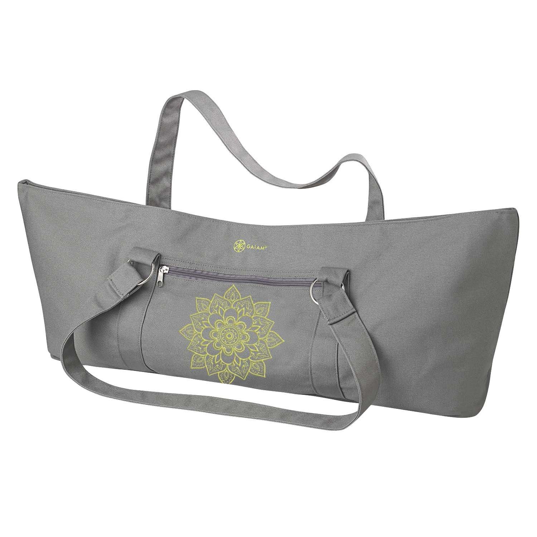 Amazon.com : Gaiam Yoga Mat Tote Bag, Citron Sundial : Sports ...