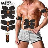 BASHERRY Stimolatore Muscolare Addominale, ABS Trainer, Corpo Tonificante Fitness Tonificazione Cintura Fit ABS Peso Muscolare Toner