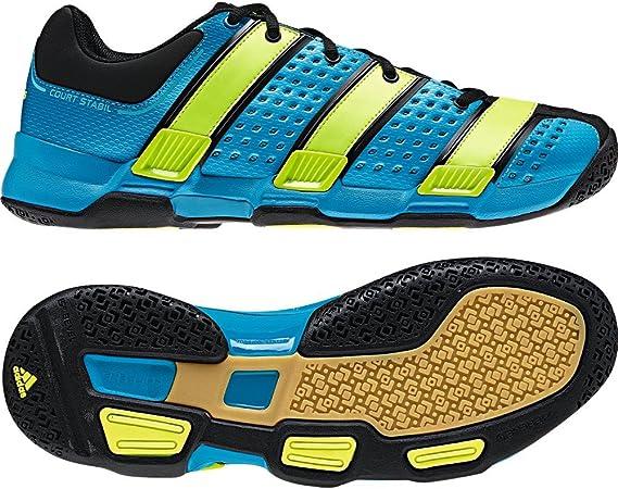 ADIDAS Court Stabil 5 Sharp Blue Men's Indoor Shoes, Black/Blue ...