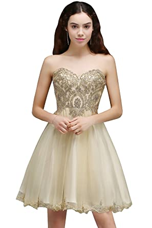 KuDress Short Lovely Appliques Lace-up Sweetheart Homecoming Party Prom Dress(Customizable) (