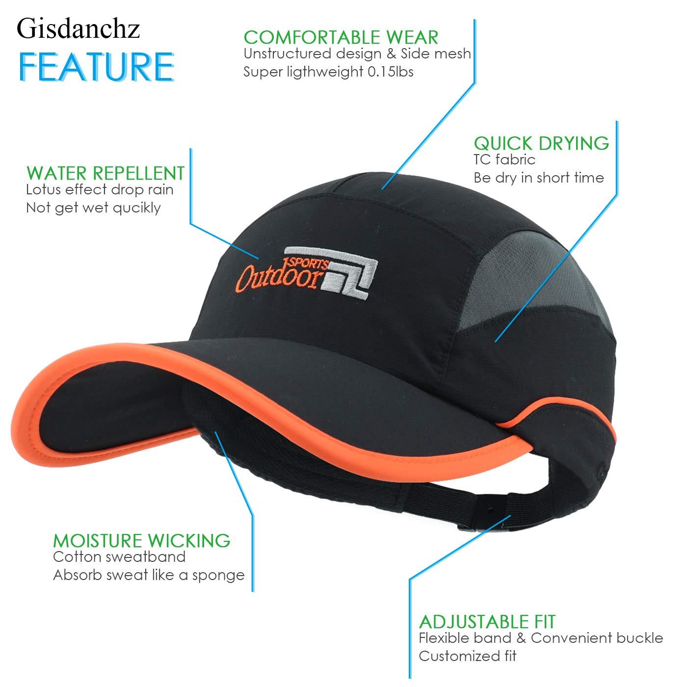 71f6d14401f Amazon.com   Gisdanchz Running Cap Sport Performance Hat for Men Jogging Hat  Quick Dry Baseball Cap Adjustable Mositure Wicking Hats for Men Breathable  Mens ...